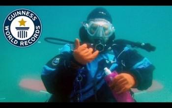 Kobiecy rekord Guinessa w przebywaniu pod wodą