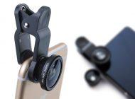 Klips z obiektywem kompatybilny z większością aparatów w smartfonach