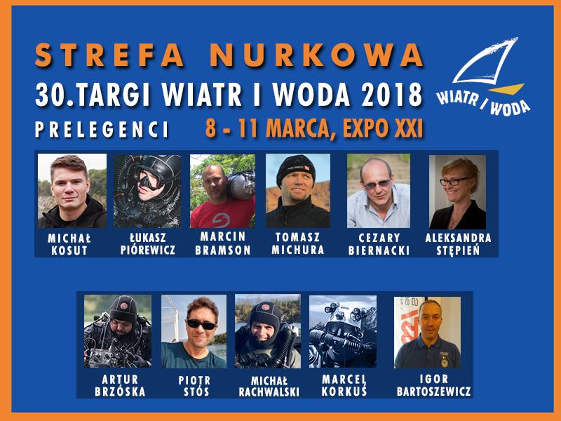 Strefa Nurkowa – prelegenci na Targach Wiatr i Woda 2018