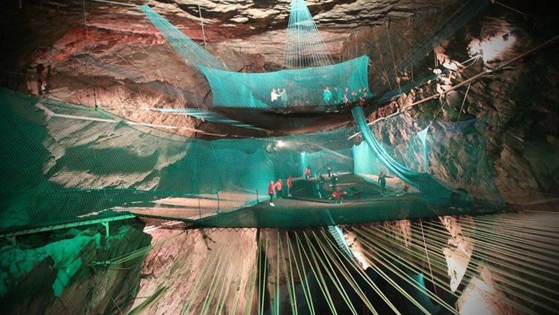 Największa podziemna trampolina na świecie