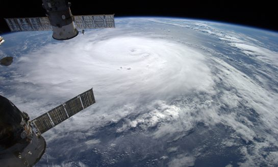 Huragan Gonzalo oglądany z Międzynarodowej Stacji Kosmicznej