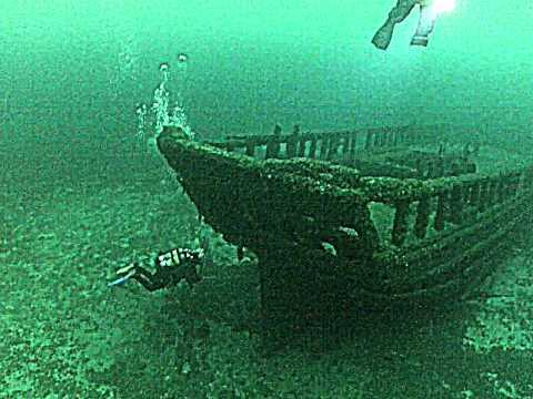Nurkowanie w Wielkich Jeziorach Północnoamerykańskich - wrak szkunera Northerner
