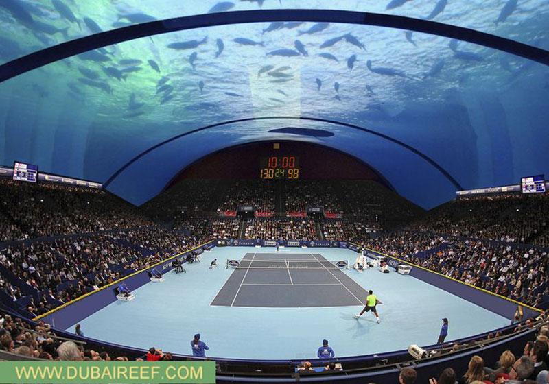 Podwodne centrum tenisowe?