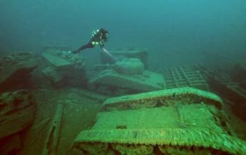 Zatopione czołgi typu Sherman na północy Irlandii