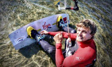 Victor Borsuk, mistrz Polski w kitesurfingu, zdobywa górę Żar