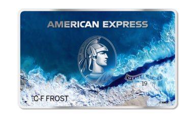 Karta American Express z oceanicznego plastiku