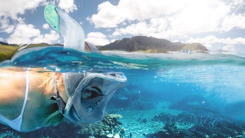 Panoramiczna maska pełnotwarzowa do snorkelingu