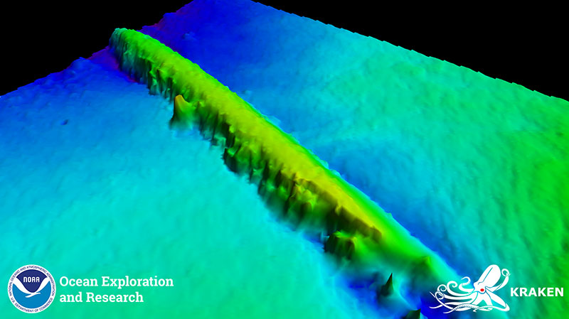 Wraki okrętów podwodnych okolic Rhode Island obrazowane za pomocą Katfish
