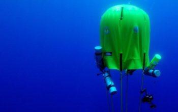 Podwodny namiot dla nurków