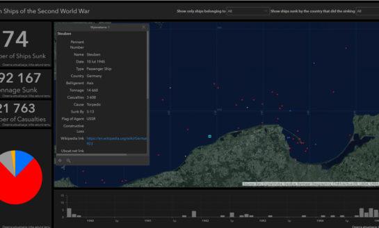 Morska mapa wraków II Wojny Światowej