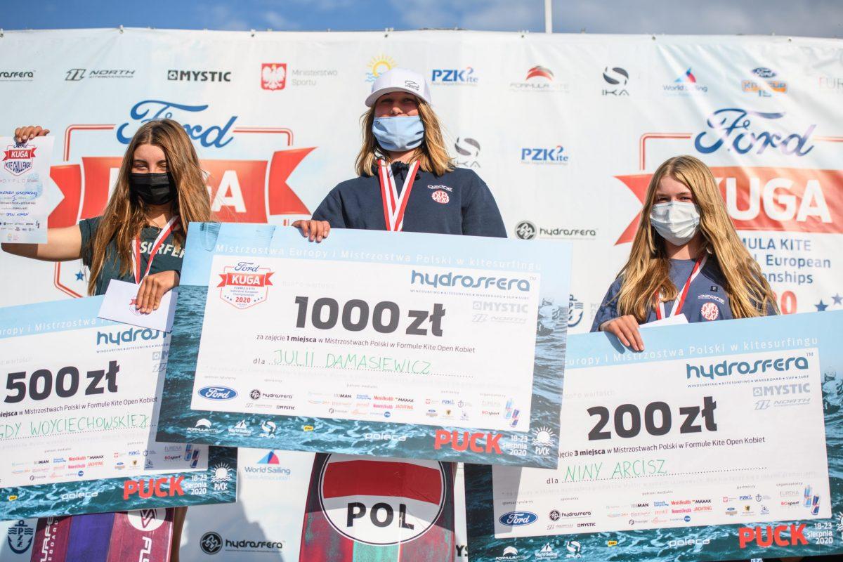 Wielki sukces Polek na Mistrzostwach Europy w Kitesurfingu: Julia Damasiewicz złoto, Magda Woyciechowska brąz.