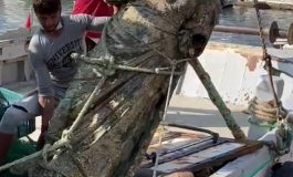 Antyczny posąg ze spiżu wyłowiony przez rybaków