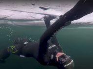 Freediving pod lodem — przygotowania do ustanowienia rekordu Guinnessa