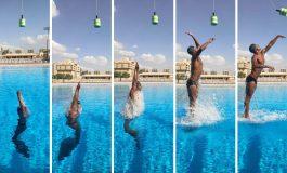 Pływak ustanowił rekord Guinnessa w najwyższym wyskoku z wody w monopłetwie
